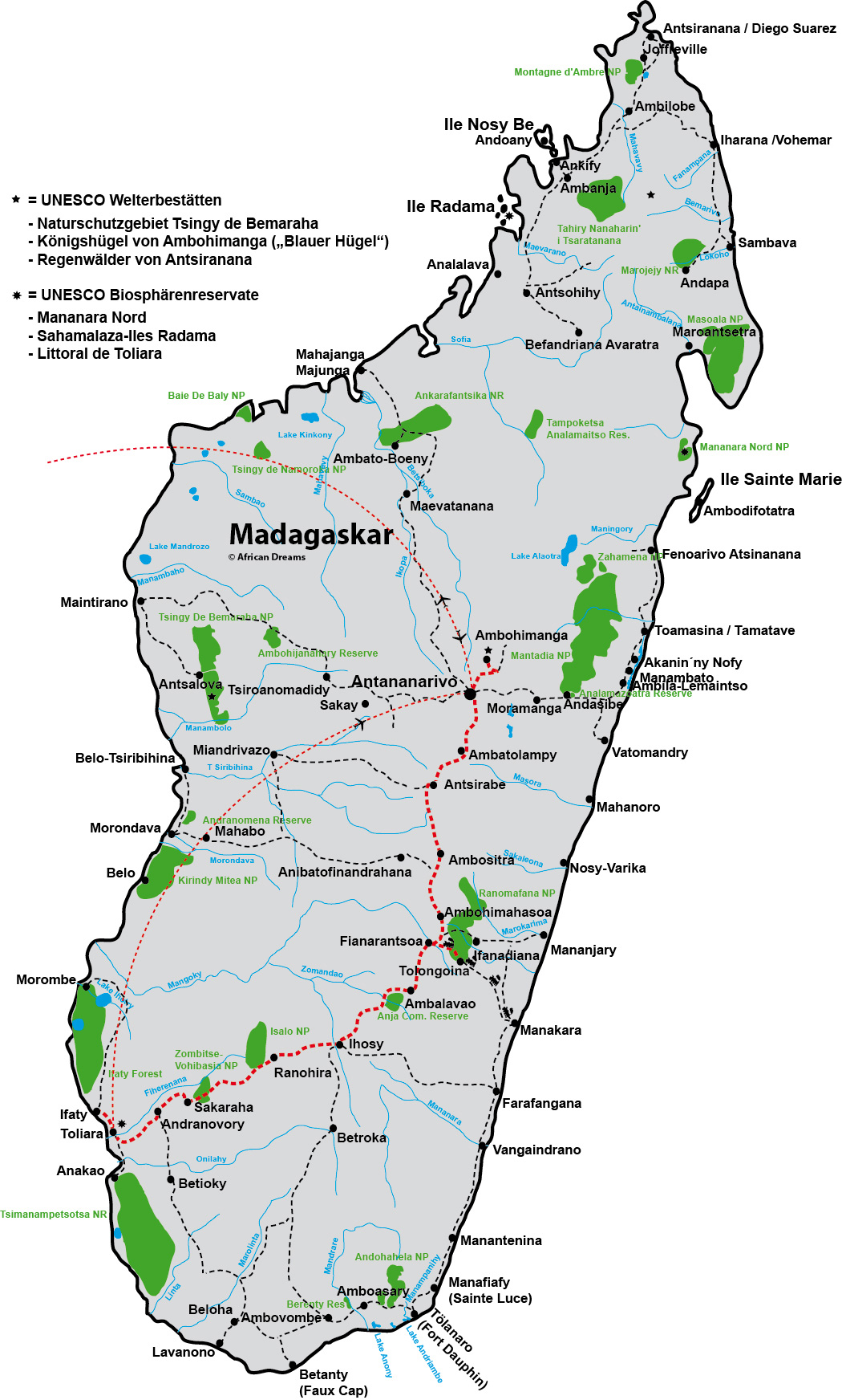 Madagaskar Karte.Hauptstadt Madagaskar Karte
